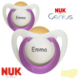 NUK Genius, orthodontique, latex, taille 1