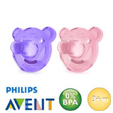 Philips Avent soothie, rond, silicone